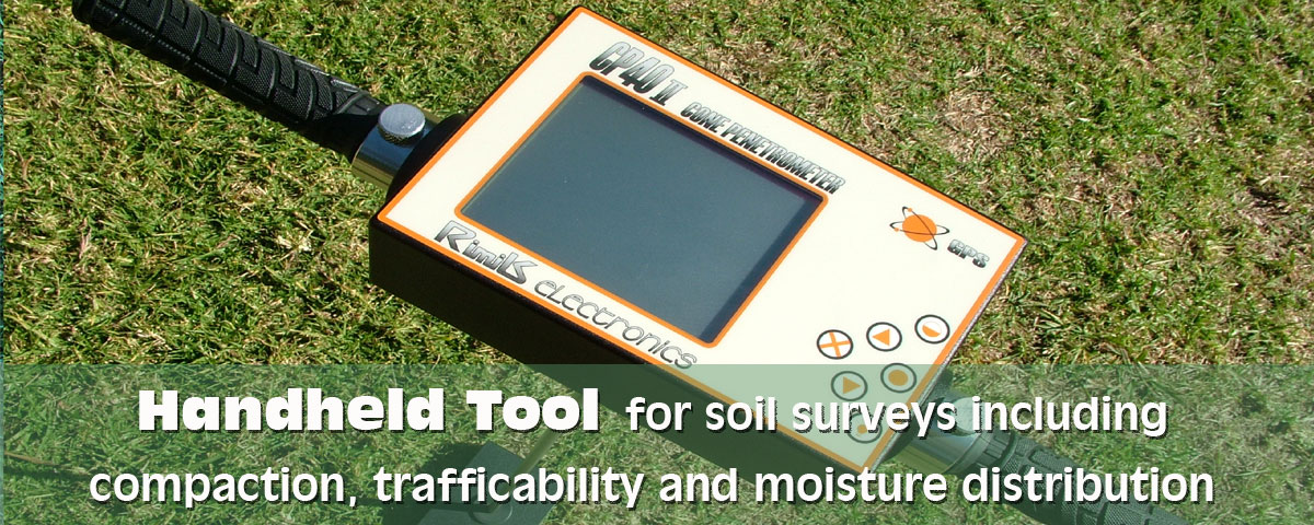 CP4011 - Handheld Tool for soil surveys including compaction,trafficability and moisture distribution | Rimik Australia