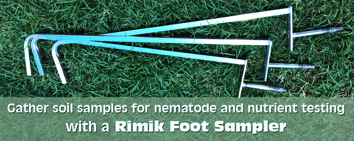 Rimik Foot Sampler - Gather soil samples for nematode and nutrient testing with a Rimik Foot Sampler | Rimik Australia
